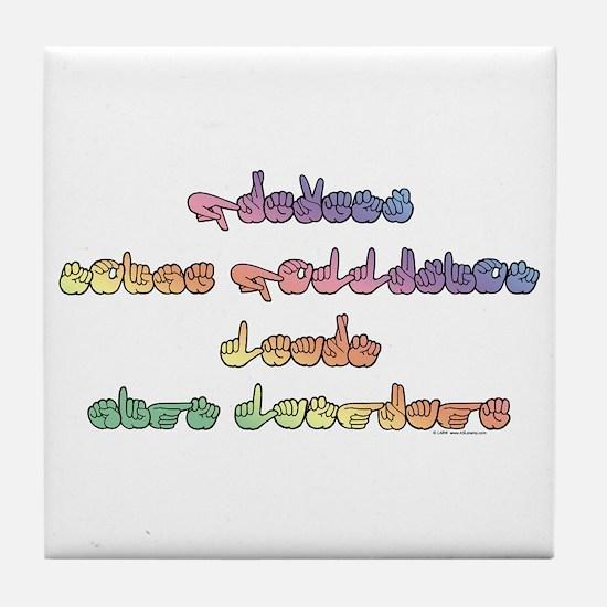 Pastel PREVENT NOISE POLLUTION Tile Coaster