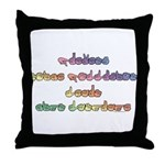 Pastel PREVENT NOISE POLLUTION Throw Pillow