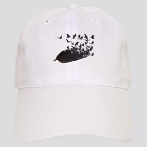 Flying Crow Feather Cap
