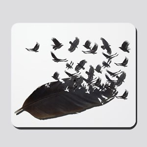 Flying Crow Feather Mousepad