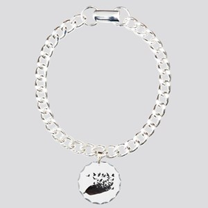 Flying Crow Feather Charm Bracelet, One Charm