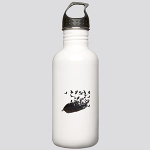Flying Crow Feather Stainless Water Bottle 1.0L