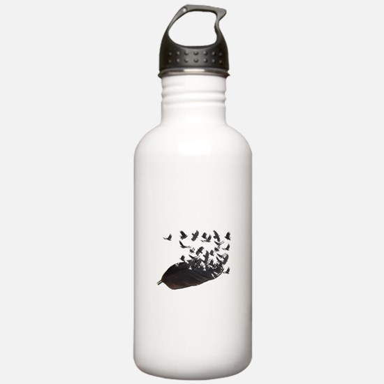 Flying Crow Feather Water Bottle