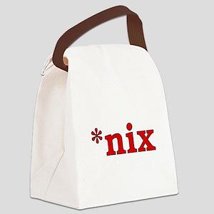 *nix Canvas Lunch Bag