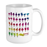 Rainbow PREVENT NOISE POLLUTION Large Mug