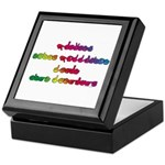 Rainbow PREVENT NOISE POLLUTION Keepsake Box