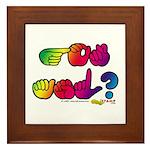 Rainbow GOT ASL? Framed Tile