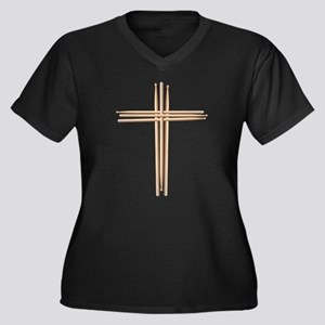 Cross - Drumsticks Plus Size T-Shirt