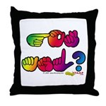 Rainbow GOT ASL? Throw Pillow