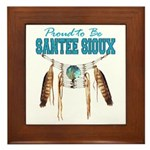 Proud to be Santee Sioux Framed Tile