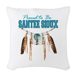 Proud to be Santee Sioux Woven Throw Pillow