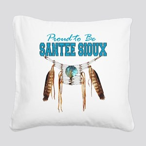 Proud to be Santee Sioux Square Canvas Pillow