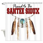 Proud to be Santee Sioux Shower Curtain