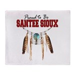 Proud to be Santee Sioux Throw Blanket