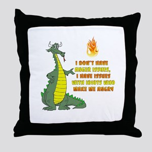 Anger Issues Throw Pillow