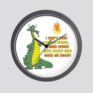 Anger Issues Wall Clock