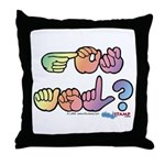 Pastel GOT ASL? Throw Pillow