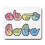 Pastel Sign Baby Mousepad