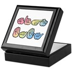 Pastel Sign Baby Keepsake Box
