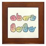 Pastel Sign Baby Framed Tile