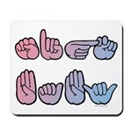 Pink-Blue SIGN BABY Mousepad