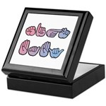 Pink-Blue SIGN BABY Keepsake Box