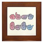 Pink-Blue SIGN BABY Framed Tile