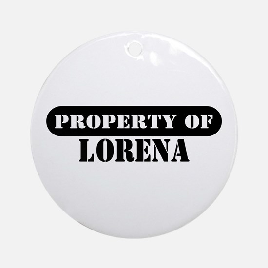 Property of Lorena Ornament (Round)