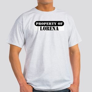 Property of Lorena Ash Grey T-Shirt