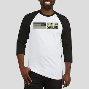 U.S. Navy: I Love My Sailor (Black Flag) Baseball