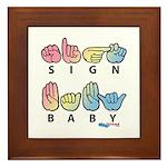 Captioned SIGN BABY Framed Tile