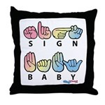Captioned SIGN BABY Throw Pillow