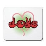 LOVE With Heart Mousepad
