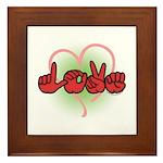 LOVE With Heart Framed Tile