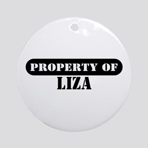 Property of Liza Ornament (Round)