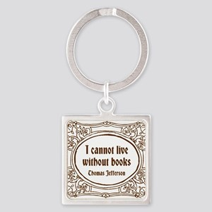 Without Books (brown) Keychains