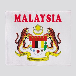 Malaysia Coat Of Arms Designs Throw Blanket