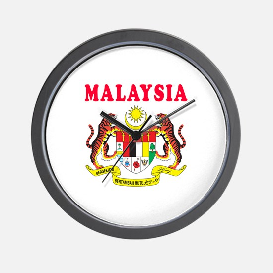 Malaysia Coat Of Arms Designs Wall Clock