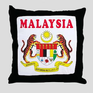 Malaysia Coat Of Arms Designs Throw Pillow