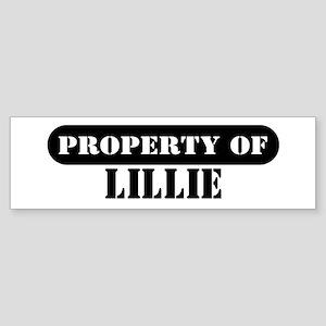 Property of Lillie Bumper Sticker