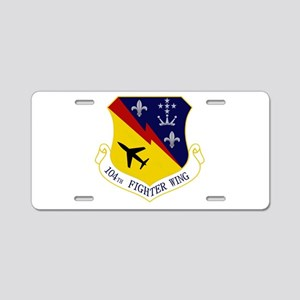 104th FW Aluminum License Plate