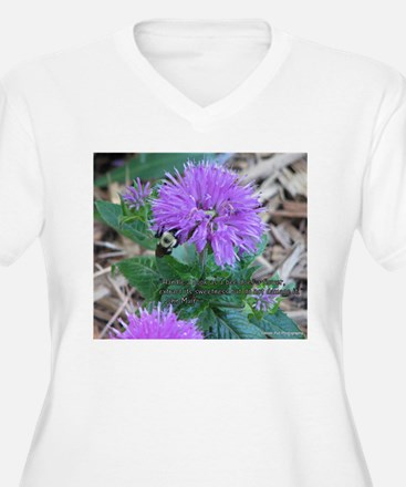 As a Bee Handles a Flower Plus Size T-Shirt