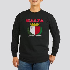 Malta Coat Of Arms Designs Long Sleeve Dark T-Shir
