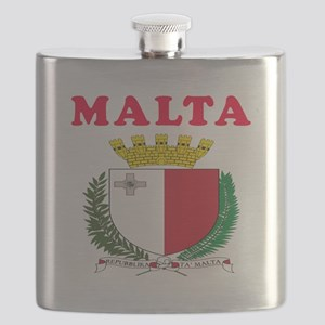 Malta Coat Of Arms Designs Flask
