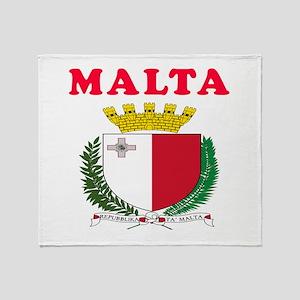 Malta Coat Of Arms Designs Throw Blanket