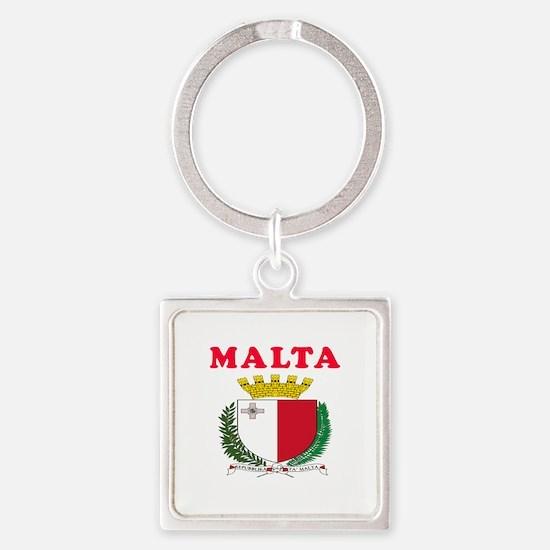 Malta Coat Of Arms Designs Square Keychain
