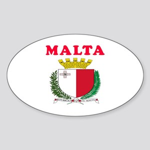 Malta Coat Of Arms Designs Sticker (Oval)