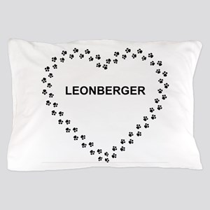 leonberger paw heart Pillow Case