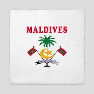 Maldives Coat Of Arms Designs Queen Duvet