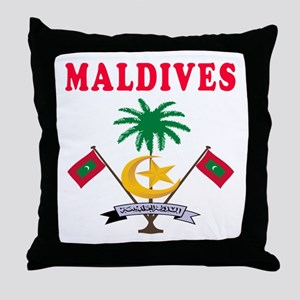 Maldives Coat Of Arms Designs Throw Pillow